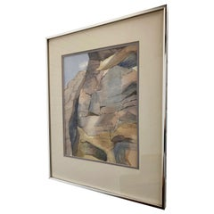 """Water Color Titled """"Rock Mountain"""" by Elenor Greenberg"""