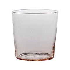 Water Glass Handcrafted in Muranese Glass, Small, Rose Quartz Pure MUN by VG