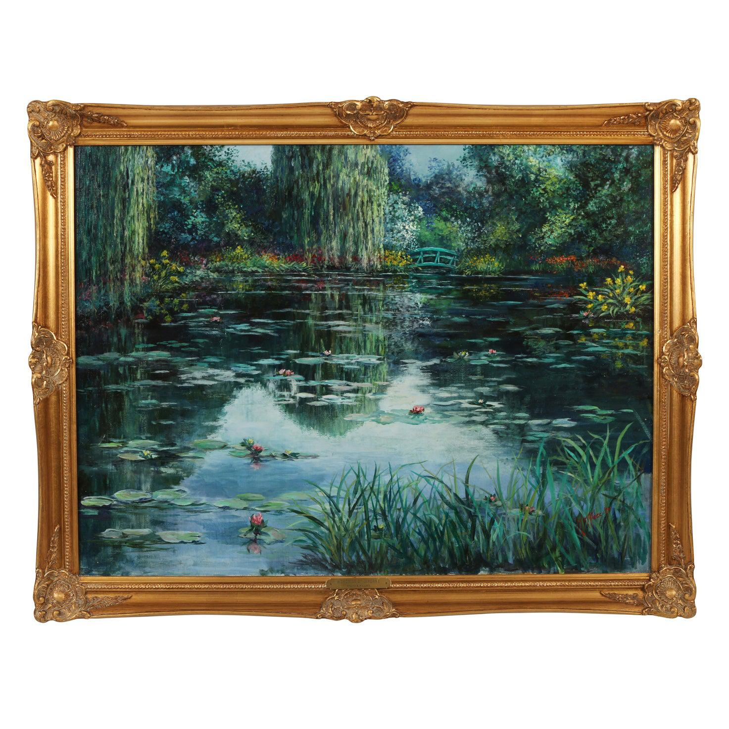 Water Scene by Noted Palm Beach Artist