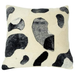 Water Stones Natural Felted Pillow, Grey Large