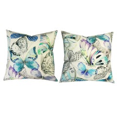 Watercolor Butterfly Throw Pillows