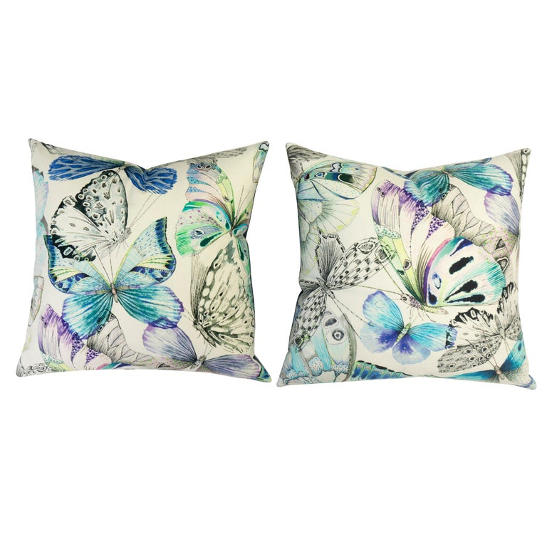 Watercolor Butterfly Throw Pillows For Sale At 1stdibs