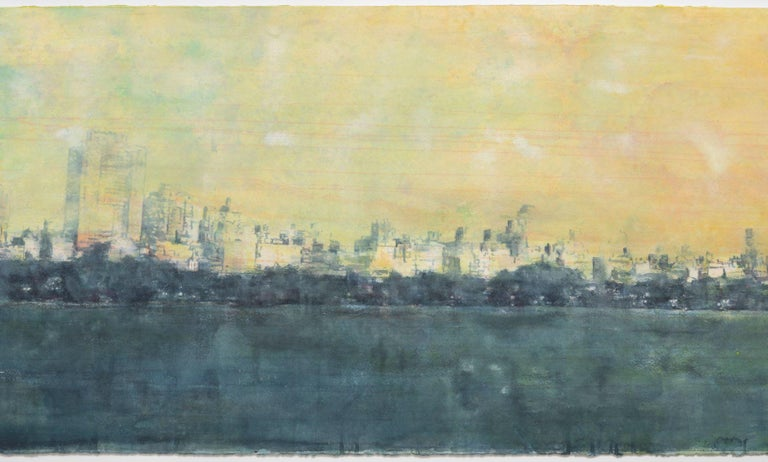 European Watercolor by Contemporary Artist Norbert Waysberg, Central Park, NY, 2018 For Sale
