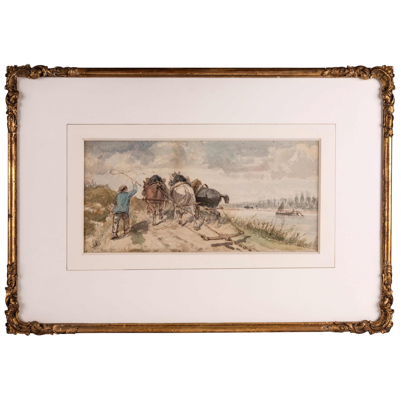 Watercolor by Richard Beavis, 19th Century British School