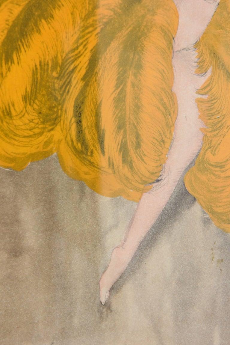 Watercolor of a Art Deco Burlesque Dancer 1