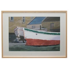 Watercolor on Paper Bair Thorai, Ireland by Michael Dunlavey, Signed and Framed