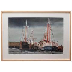 Watercolor on Paper 'Bair Thorai, Ireland' Original Painting by Michael Dunlavey