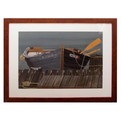 Watercolor on Paper 'Rendezvous, Bodega Bay, California' by Michael Dunlavey