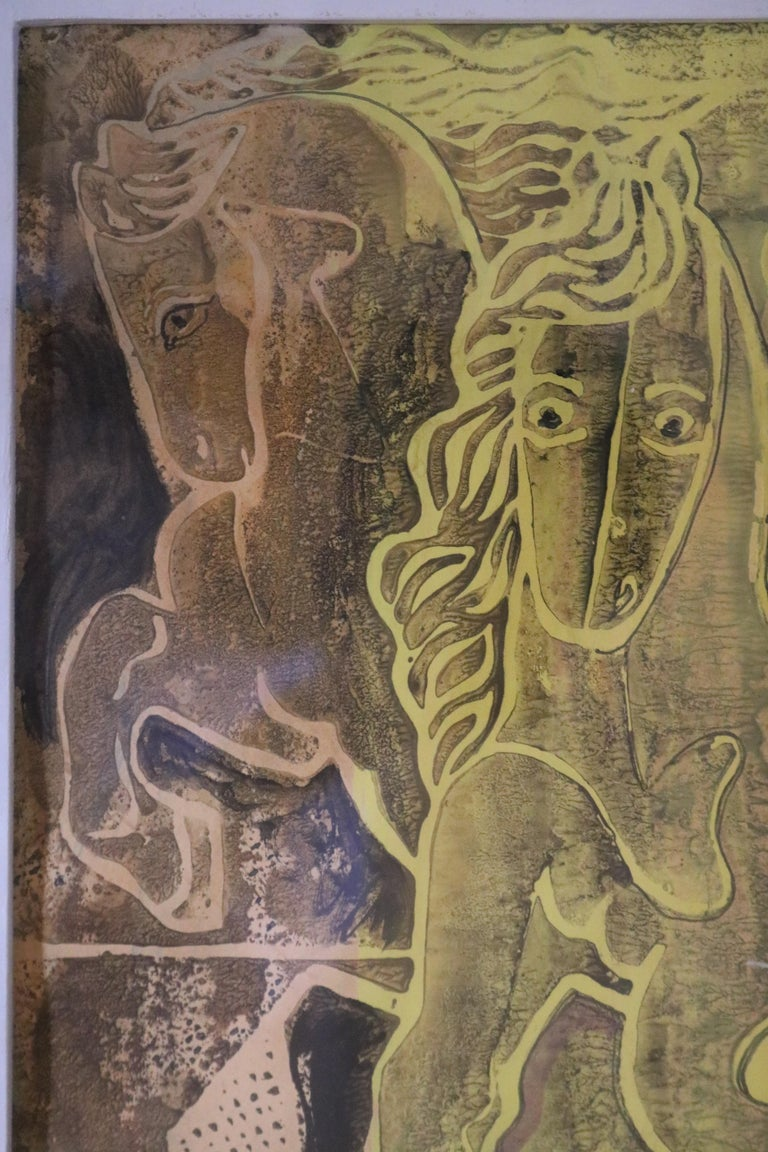 20th Century Caseine on Paper Painting by Eduard Buk Ulreich
