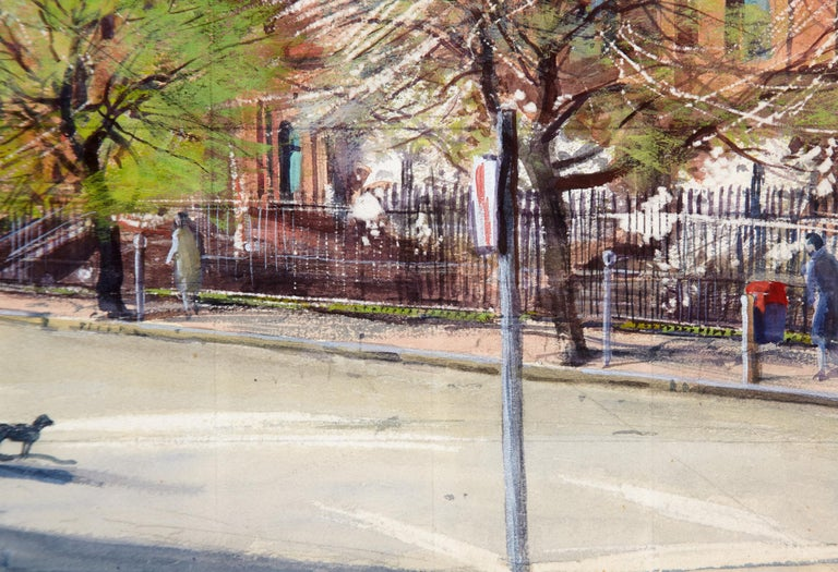 American Watercolor Painting 'The Stop Light' by A. Lassell Ripley, Listed Am. Artist For Sale