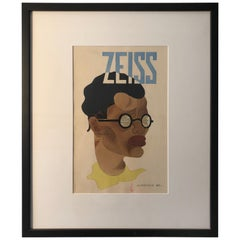 Watercolour, Advertising Study for Zeiss from 1920s