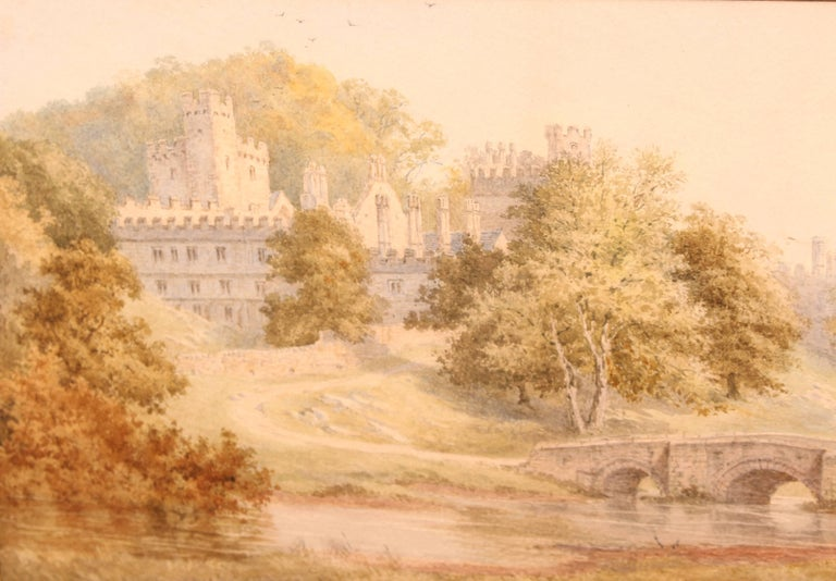 English Watercolour 'Windsor Castle' by Frederick Tully Lott For Sale