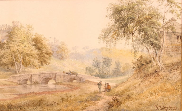 Watercolour 'Windsor Castle' by Frederick Tully Lott In Good Condition For Sale In Heathfield, East Sussex