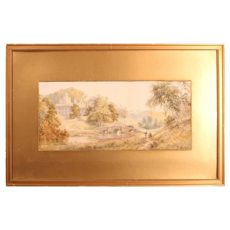 Watercolour 'Windsor Castle' by Frederick Tully Lott For Sale