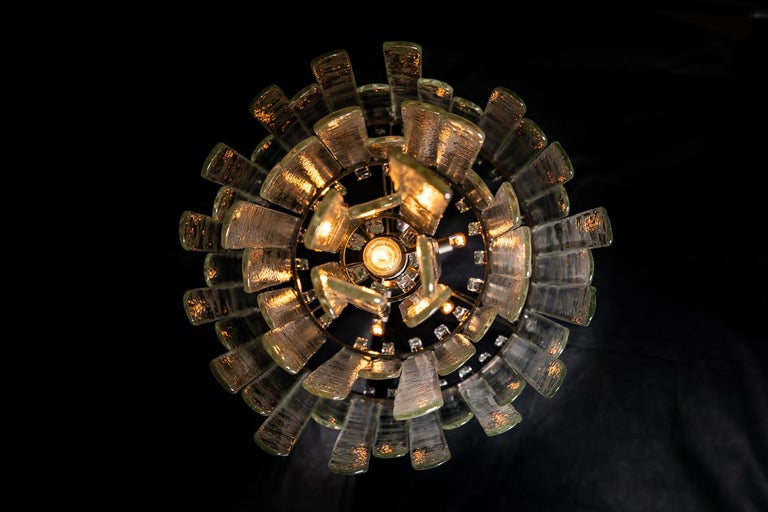 20th Century Waterfall Chandelier by Carlo Nason, 1946 For Sale