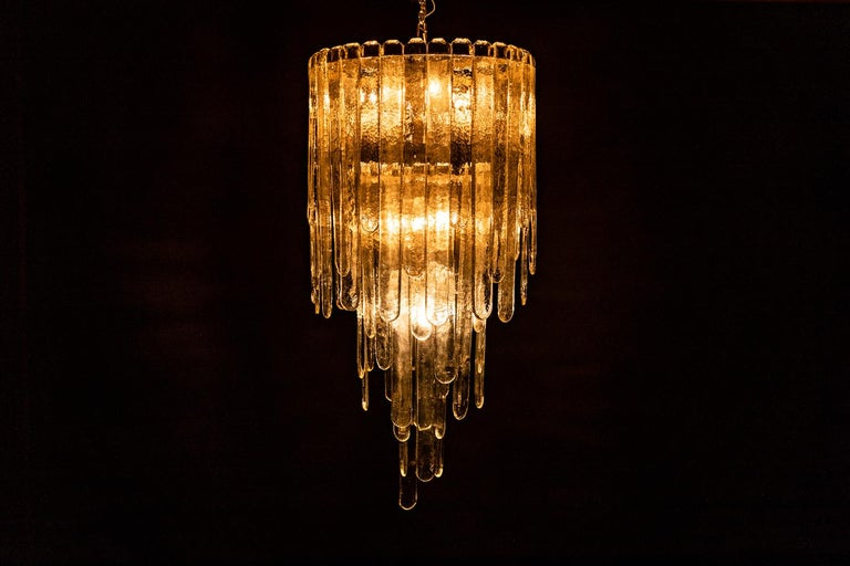 Waterfall Chandelier by Carlo Nason, 1946 For Sale 2