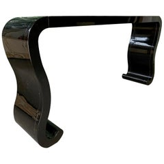 Waterfall Console Table in the Manner of Karl Springer