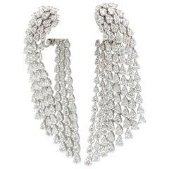 Diamond Earrings 18 Carats 18K White Gold