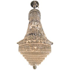 Waterfall Style French Crystal Chandelier
