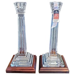 Waterford Americas Heritage Collection Pair of George Washington Candlesticks