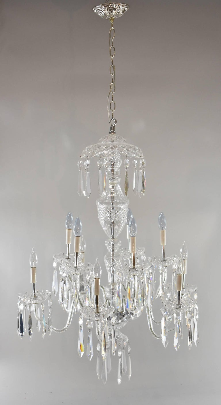 Waterford avoca ten arm crystal chandelier at 1stdibs an impressive ten arm crystal chandelier by waterford the waterford avoca ten arm aloadofball Images