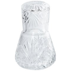 Waterford Style Crystal Bedside Carafe and Tumbler Glass