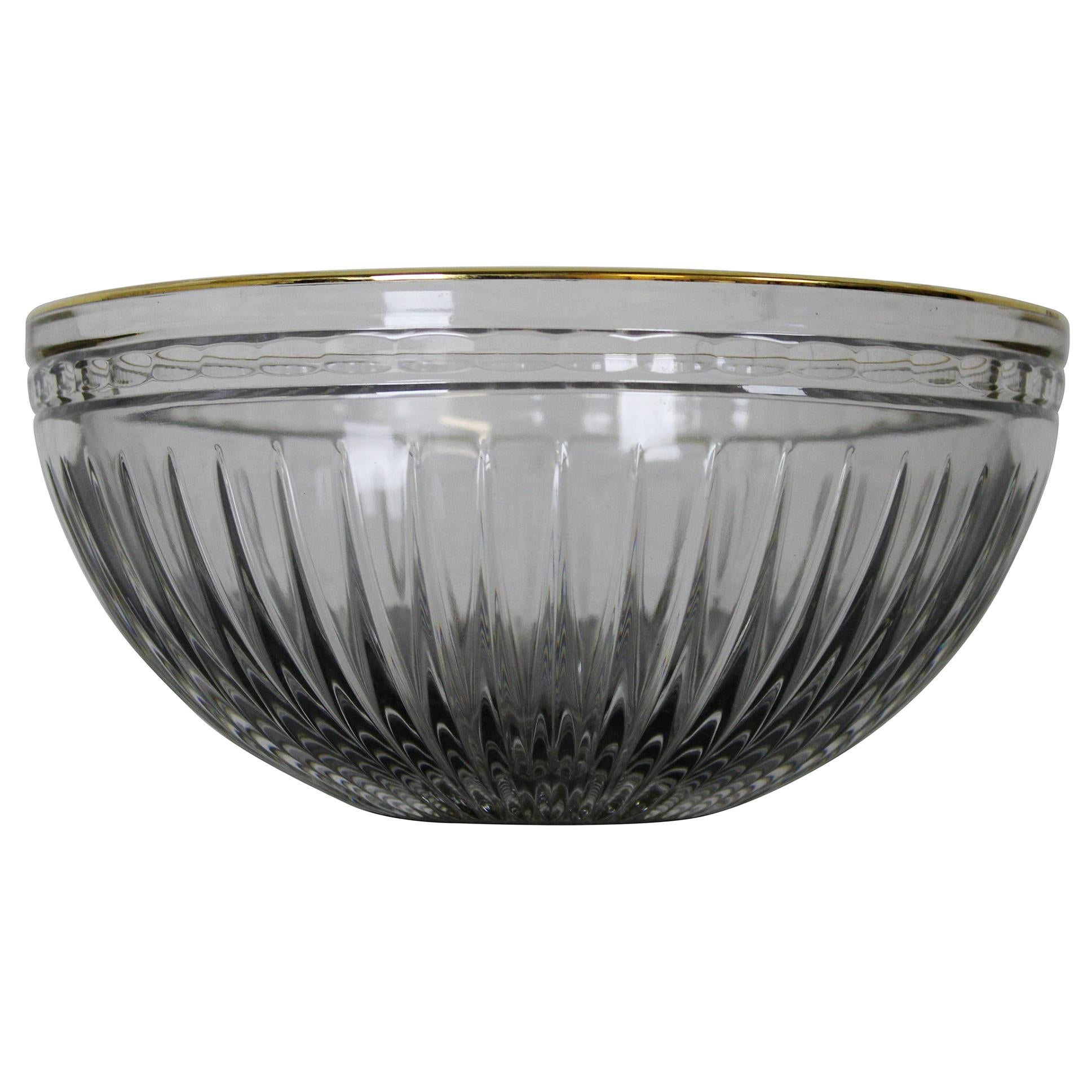 Waterford Marquis Hanover Gold Rimmed Cut Crystal Round Bowl