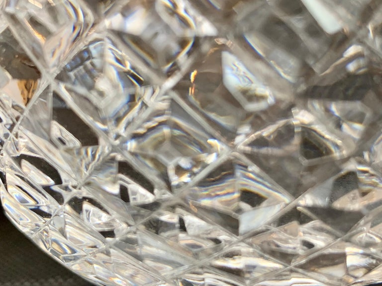 Vintage Waterford Cut Lead Crystal Rose Bowl in the Glandore Pattern In Good Condition In West Palm Beach, FL