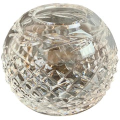 Waterford Vintage Cut Lead Crystal Rose Bowl in the Glandore Pattern