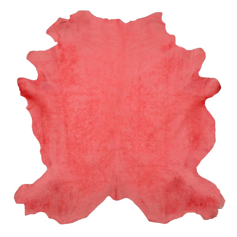 Watermelon Cowhide Rug For Sale