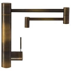Waterstone Handmade Antique Brass Modern Hunley Kitchen & Prep Swivel Faucet
