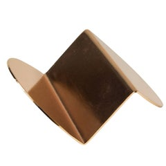 Wave Business Card Holder from Souda, Copper, in Stock