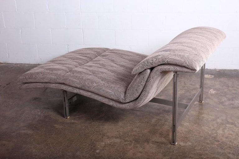 Late 20th Century Wave Chaise by Giovanni Offredi for Saporiti Italia