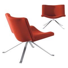 Wave - Zeitgenössischer Designer Loungesessel - Verschiedene Farben 100 % Neue Wolle, Stahl
