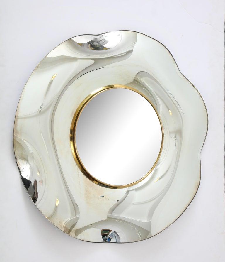 Mid-Century Modern Wave Italian Mirror by Ghiró Studio For Sale