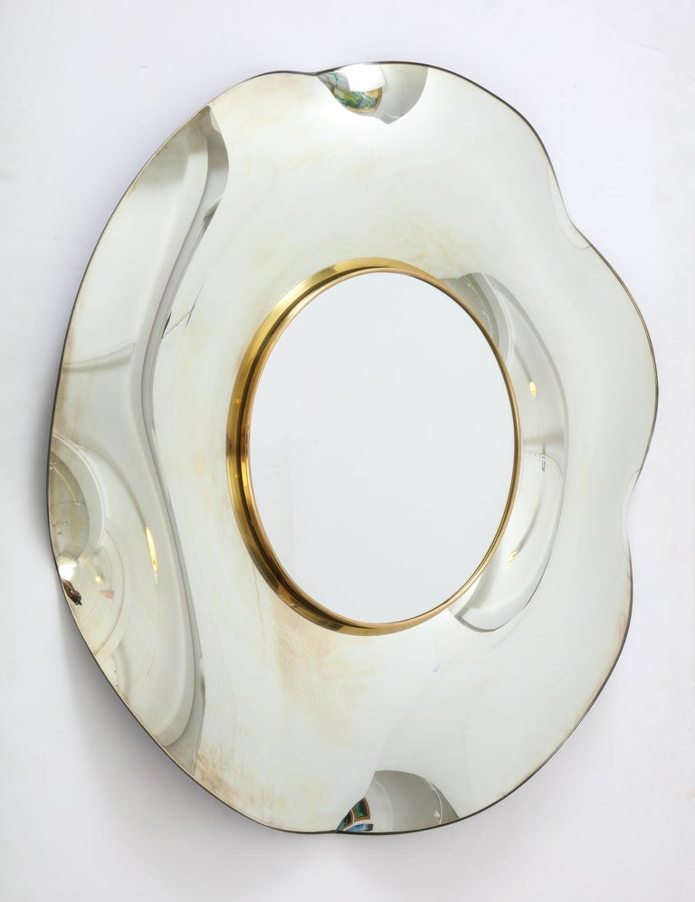 Wave Italian Mirror by Ghiró Studio In Excellent Condition For Sale In New York City, NY