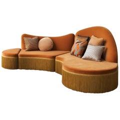 Wave Orange 3-Piece Sectional Sofa #2 by Chiara Provasi