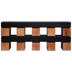 Waveform Minimalist Black Stacked Bench by Bradley Duncan Studio