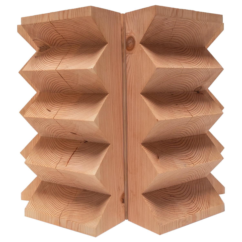 Waveform Sun Stump Wood Carved Table by Bradley Duncan Studio