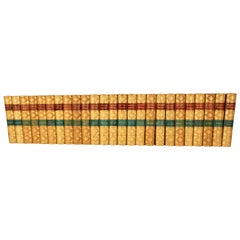 Waverly Novels 'The Works of Sir Walter Scott' in 25 Volumes Bound in Leather