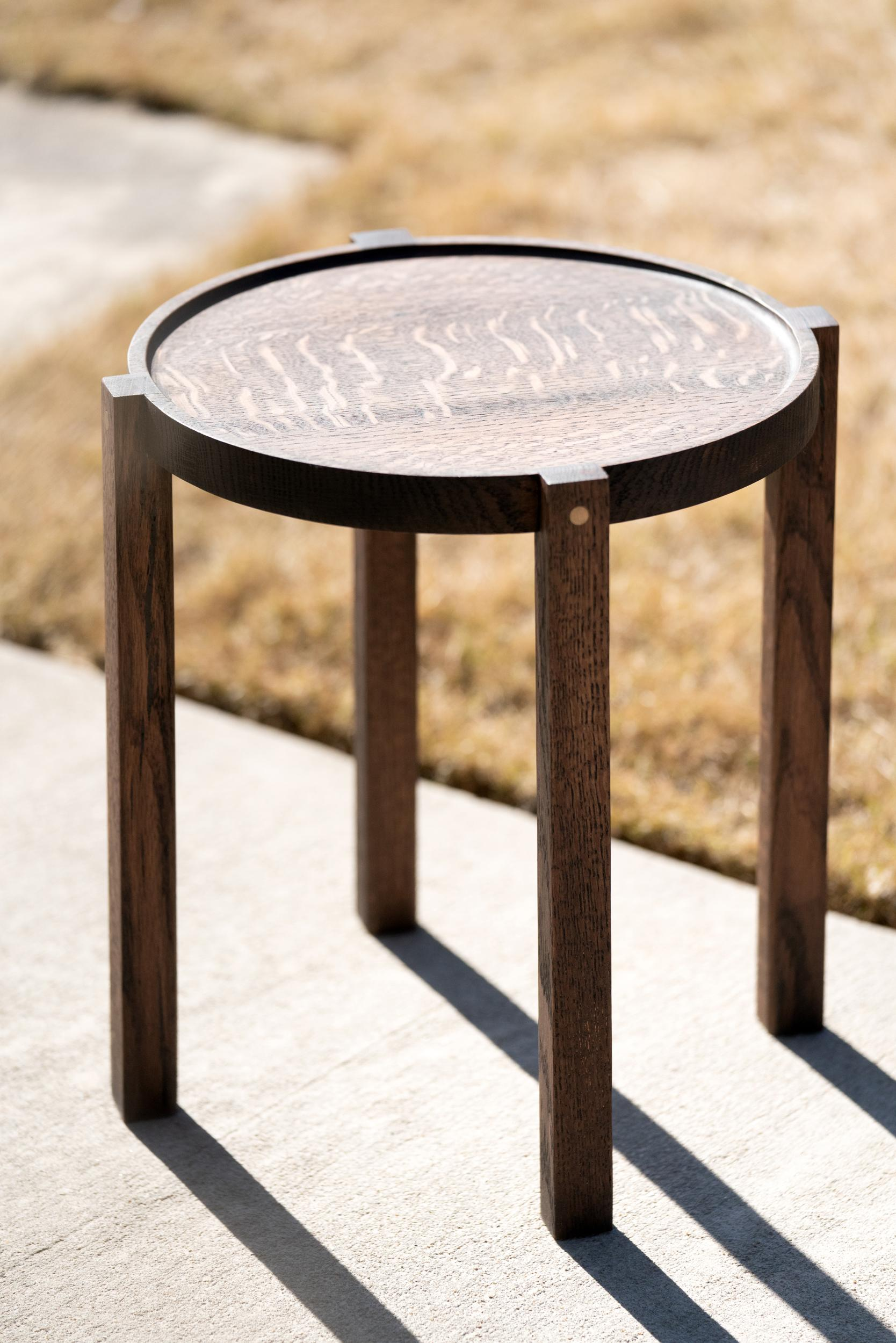 Picture of: Small Contemporary Ebonized Oak Wood Side Table With Bronze Details For Sale At 1stdibs
