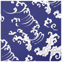Waves Blue Panel