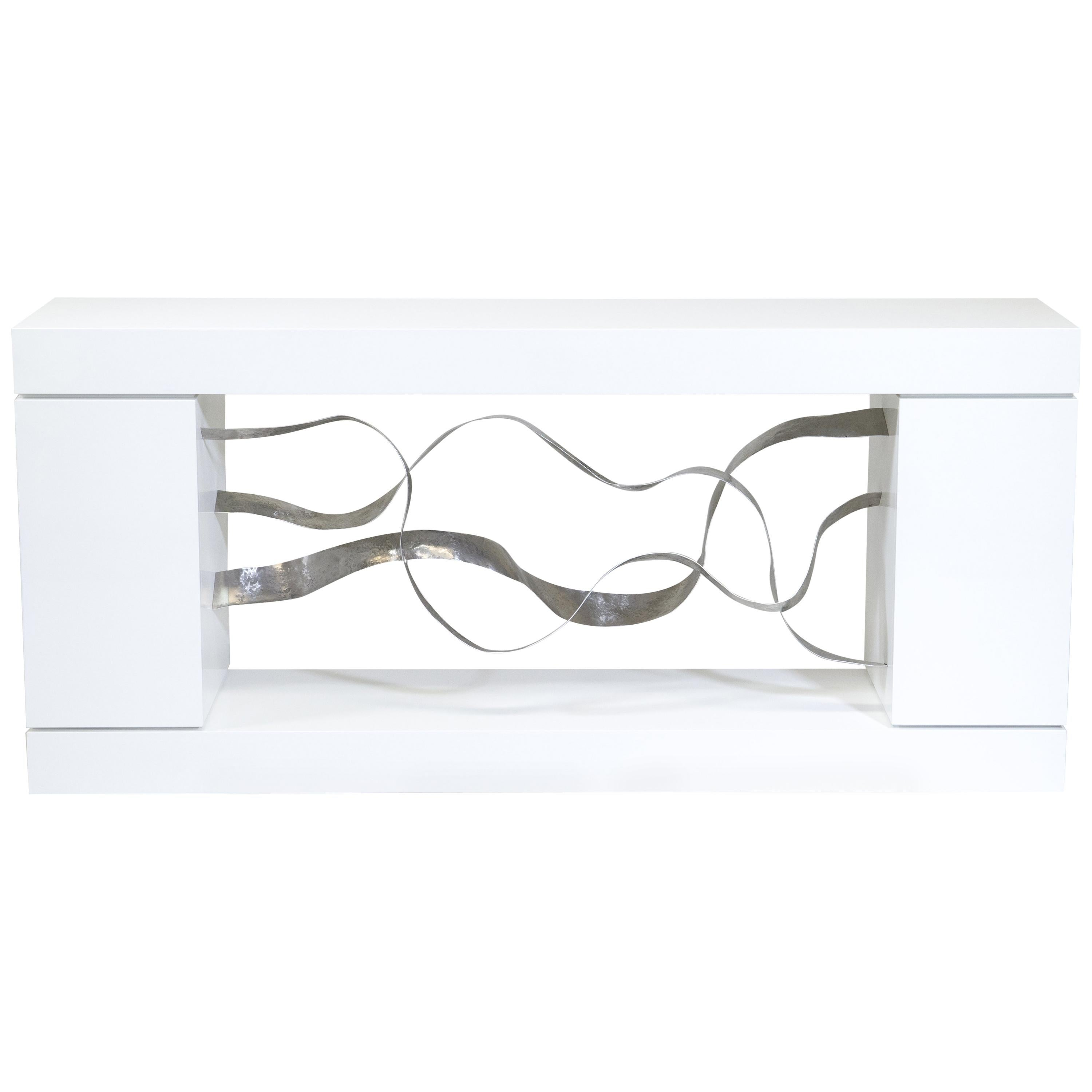 """Waves"" Console, Sculpture, Cabinet by Jacques Jarrige"