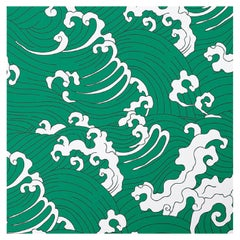Waves Green Panel