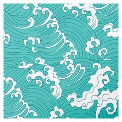 Waves Light Blue Panel