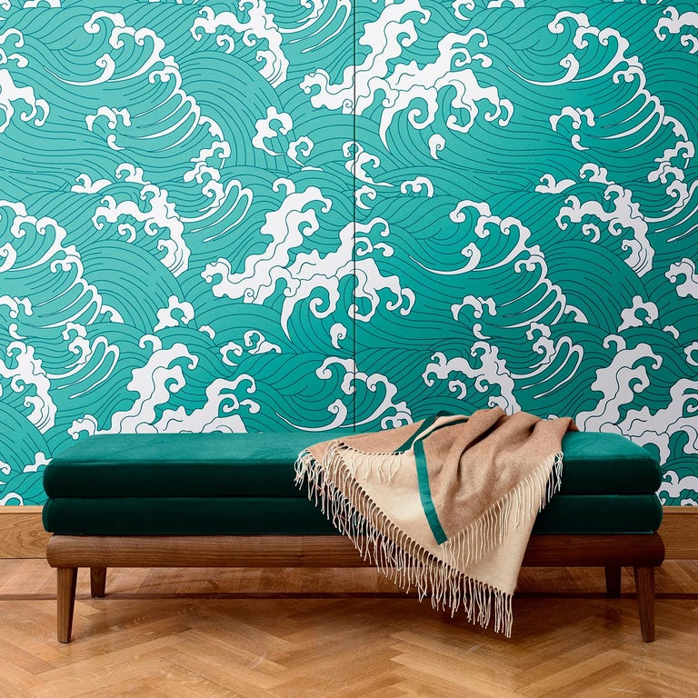 Inspired by the sophisticated elegance of traditional Japanese art, the design of this decoration will add a timeless accent to a whole room or a single wall. Part of the Waves collection, this wall covering is available in light blue, yellow, red,