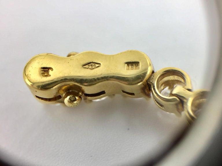 Wavy 18 Karat Yellow Gold 3.93 Carat Diamond Tennis Bracelet For Sale 2