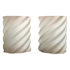 Wavy Glass Wall Sconces by Ron Rezek a Pair