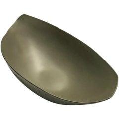 Wavy Sided Fine Ceramic Large Bowl, Italy, Contemporary