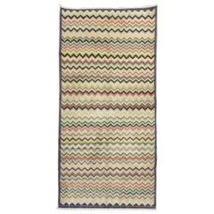 Wavy Vintage Turkish Deco Rug
